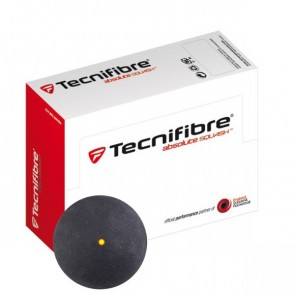 TECNIFIBRE SQUASH BALLS (X2 - SINGLE YELLOW DOT)