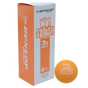DUNLOP MINI PLAY SQUASH BALLS (X3)