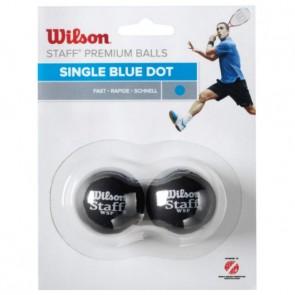 WILSON STAFF (X2 - SINGLE BLUE DOT) SQUASH BALL
