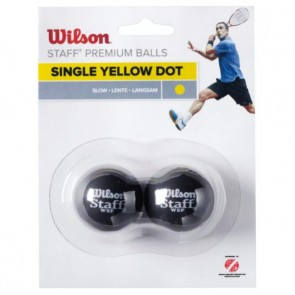 WILSON STAFF (X2 - SINGLE YELLOW DOT) SQAUSH BALL