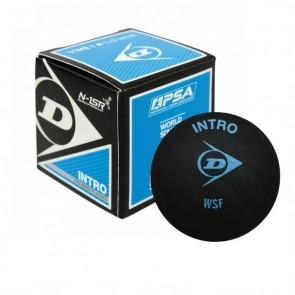 DUNLOP INTRO SQUASH BALL (X1) BLUE